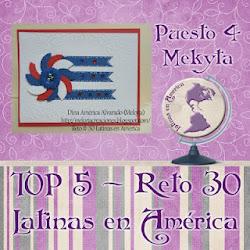 QUEDE EN EL TOP 5 DEL RETO #30