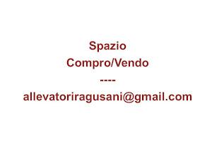Spazio Compro/Vendo