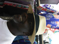 Panama Hat on smiling man at The Hat House NY