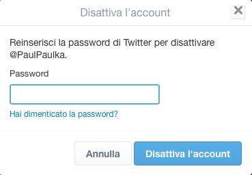 Disattiva-l'account