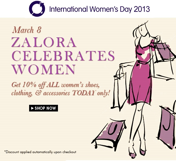 International Women's Day Discount Shopping Zalora