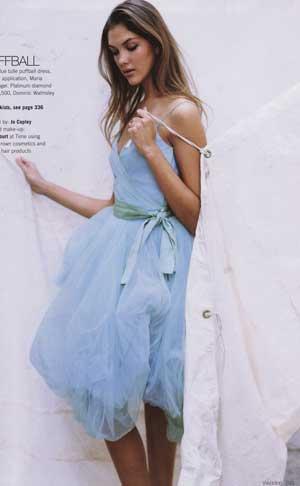 Informal blue bridal wedding dress gown casual attire ideas