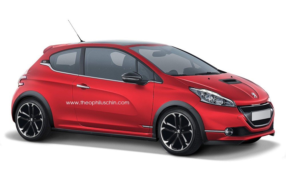 renderings 2012 peugeot 208 gti first photos garage car. Black Bedroom Furniture Sets. Home Design Ideas