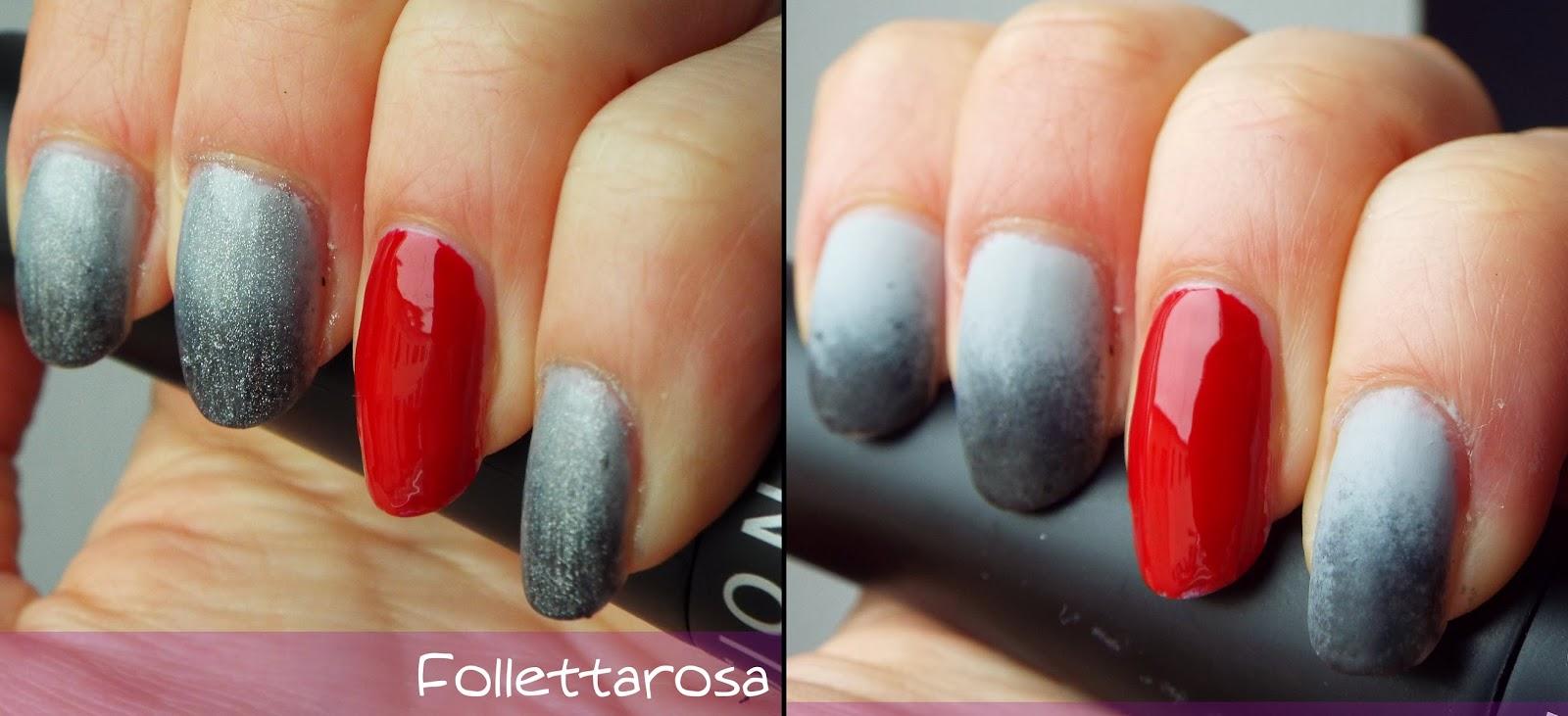50 sfumature di grigio nail art