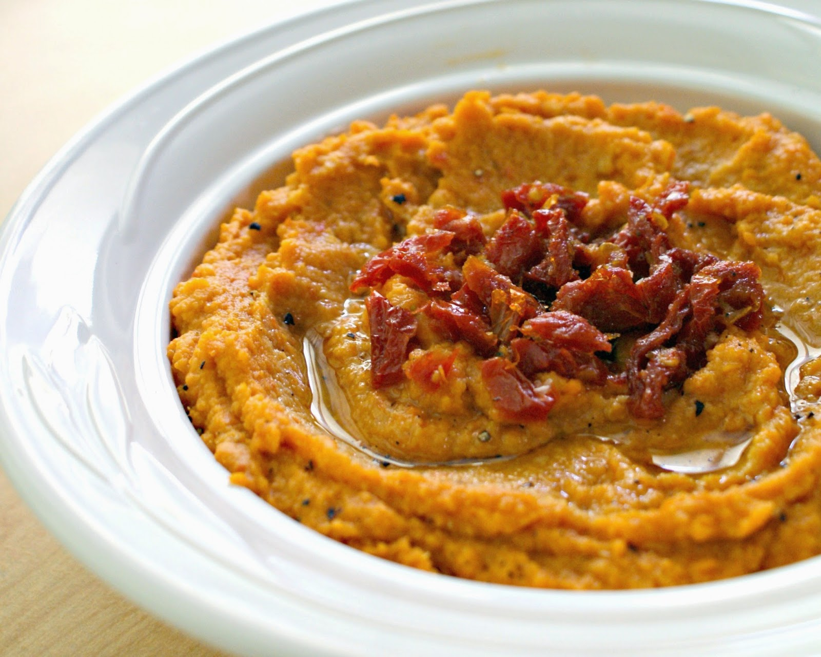 Sun-Dried Tomato Hummus | The Two Bite Club