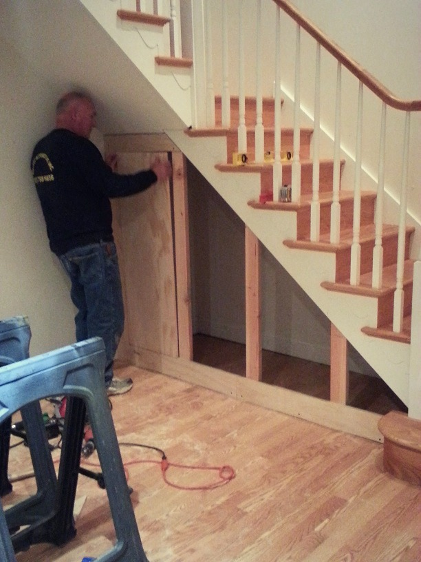 building cabinets under stairs