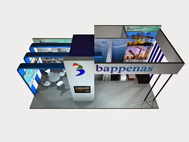 inexpo 2014 Design Booth pameran Bappenas 3D