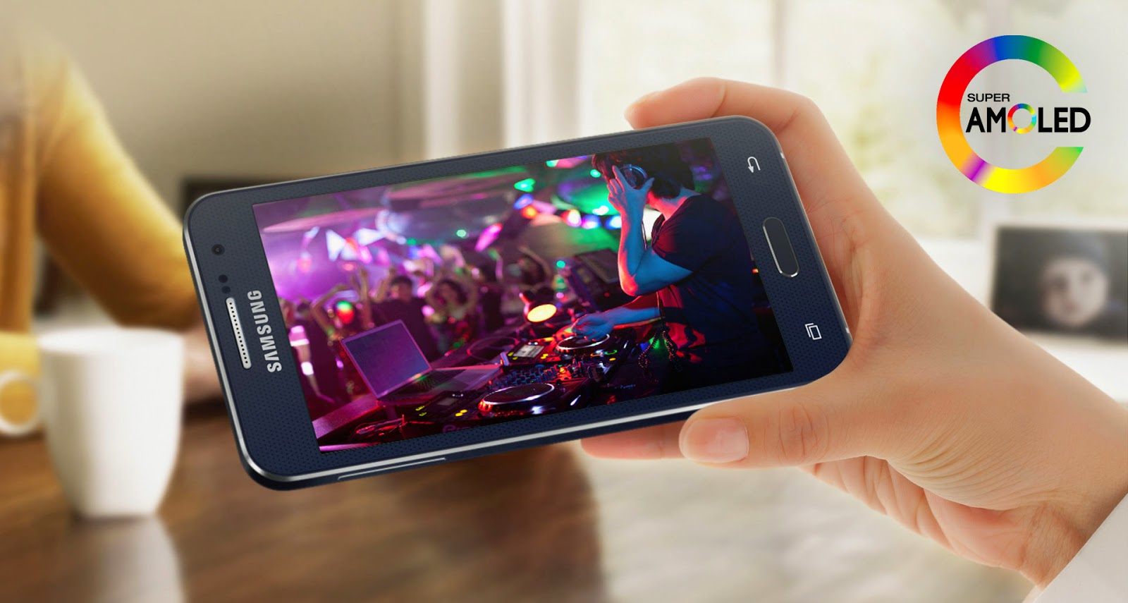 Мобильный телефон смартфон Samsung SM-A300F Galaxy A3 Black в цветном металлическом корпусе