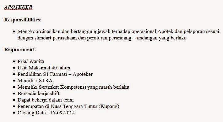 lowongan kerja pt prima farama indonesia kupang ntt
