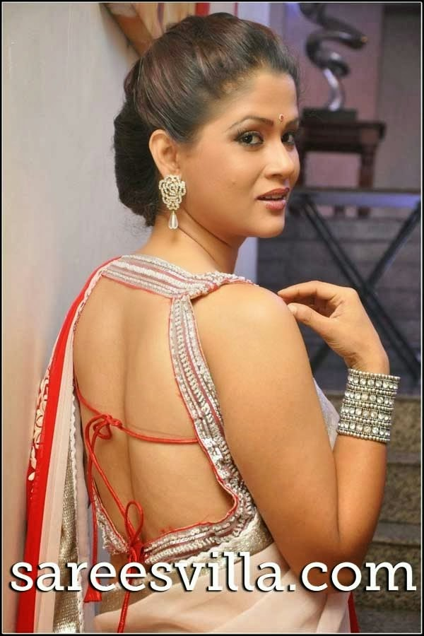Shilpa Chakravarthy In Backless Blouse