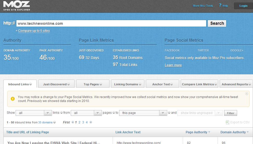 Seo Website In 2014 Follow Index Pa And Da 2