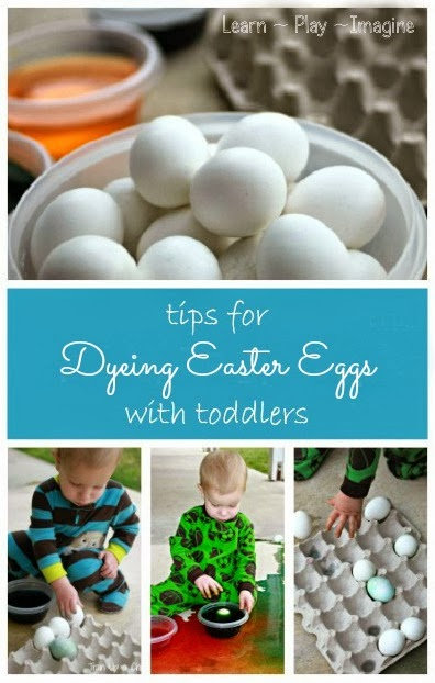 Dyeing Easter eggs with toddlers and enjoying it!  Simple tips for enjoying the whole process.