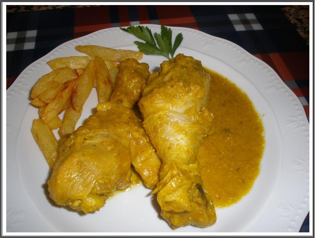 Las recetas del abuelo muslitos de pollo en salsa de almendras - Como se hace pollo en salsa ...