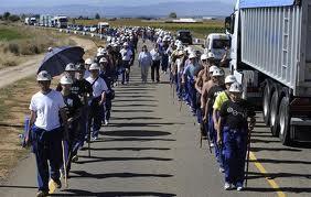 marcha minera 2012 huelga manifestacion mineria mineros