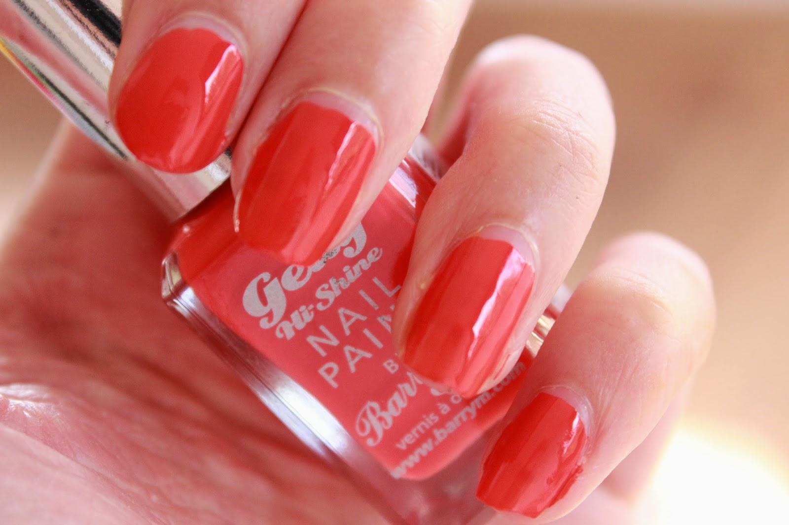 review swatches barry m hi-shine nail paint satsuma