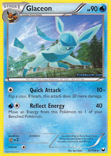 Glaceon Dark Explorers Pokemon Card