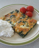 Spinach Cheese Egg Bake