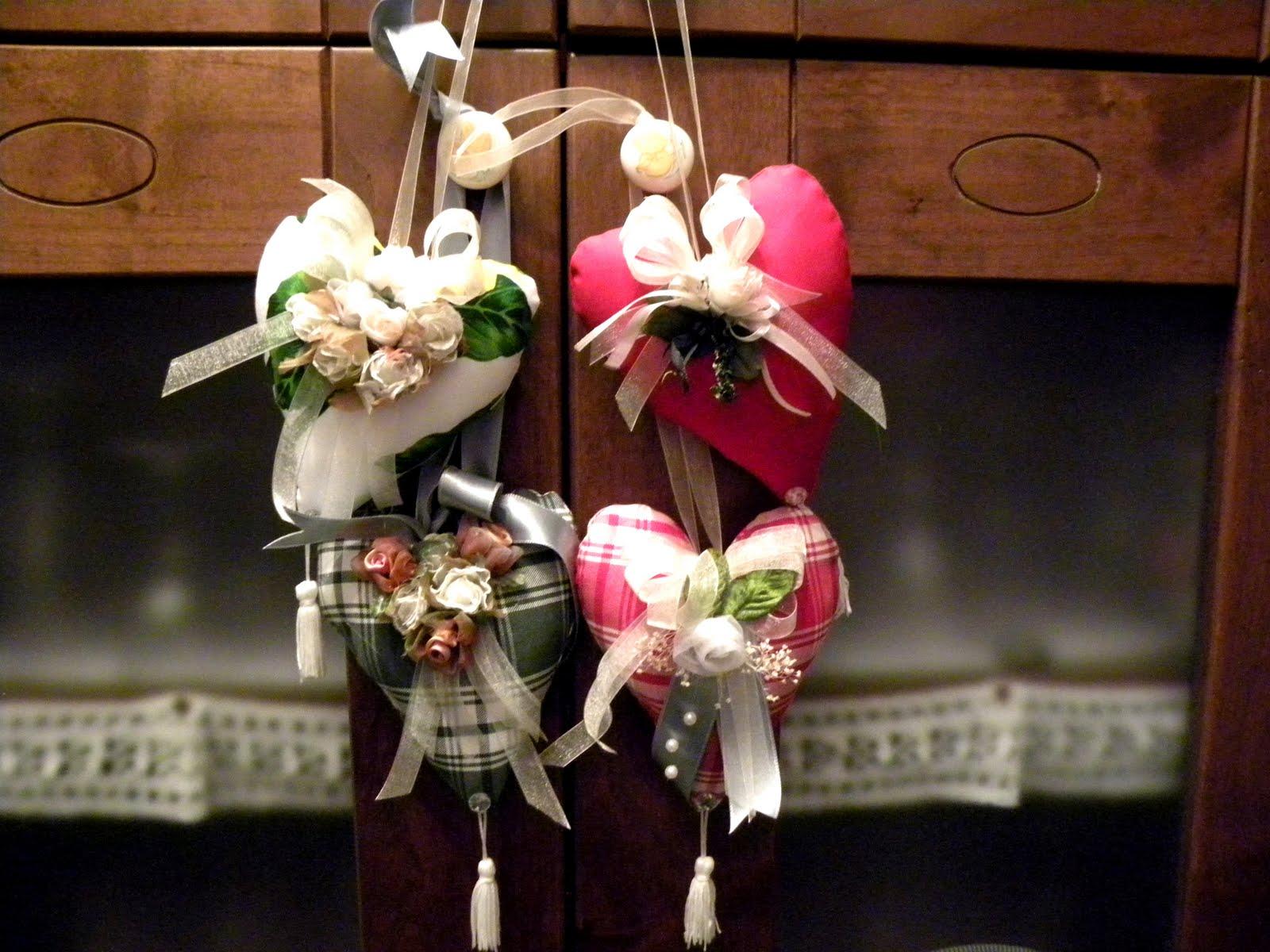 cuori di legno con fioru : Patchwork e altre follie: Cuori tirolesi