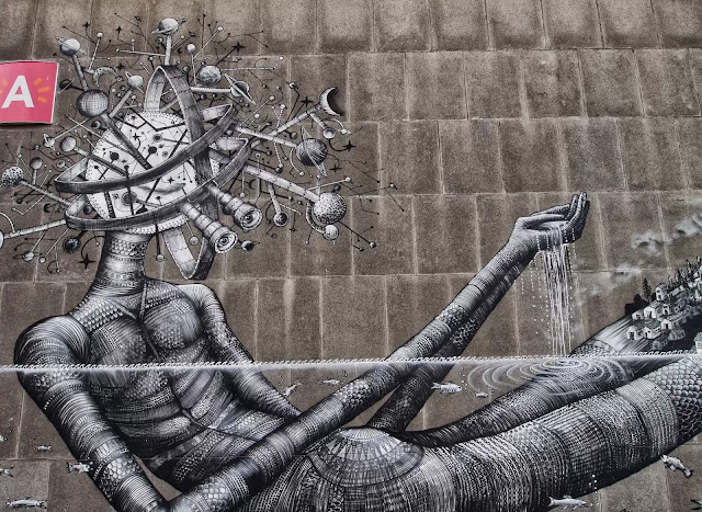 Street Art By Phlegm For Day One Festival In Antwerp, Belgium. 4