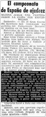 Final del XI Campeonato de España Individual de Ajedrez en Mundo Deportivo, 28 de junio de 1946