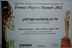 CÓDIGO BANFIELD GANÓ EL PREMIO APRENEM 2012