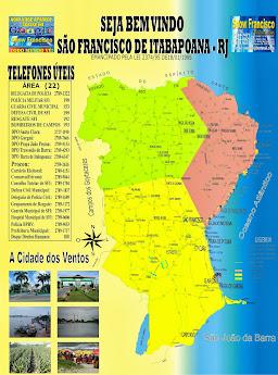 MAPA DO MUNICÍPIO DE SÃO FRANCISCO DE ITABAPOANA RJ