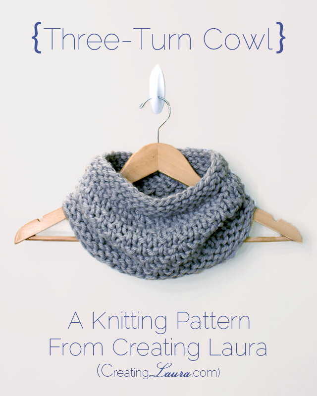 Creating Laura Three Turn Cowl Knitting Pattern