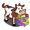Spring Basket Cow