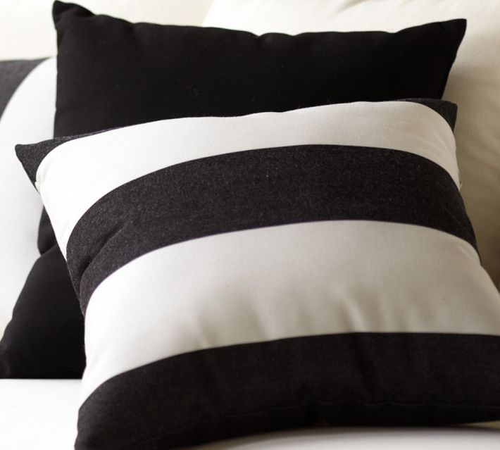 Black And White Stripe Outdoor Throw Pillows : Black And White Stripe Outdoor Pillows - Home Designs