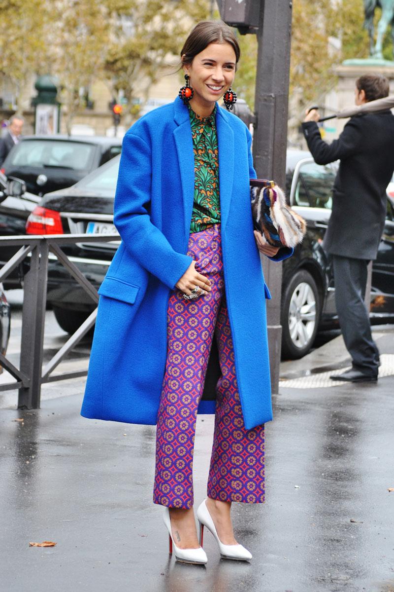 blazer tendencia azul