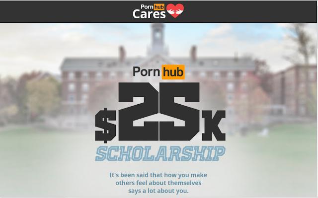 Imagem que aparece ao entrar no link do concurso do PornHub