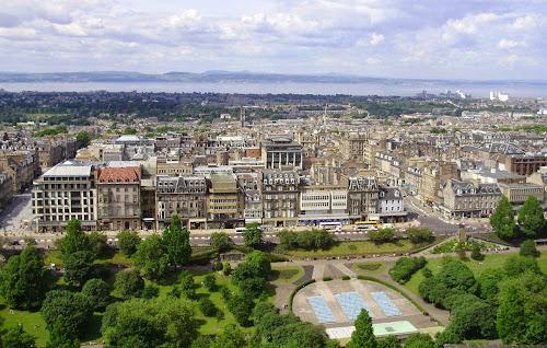 Scotland Edinburgh from castle