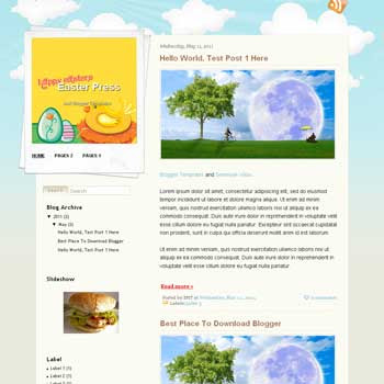 Easter Press Blogger Template. blogger template from wordpress theme
