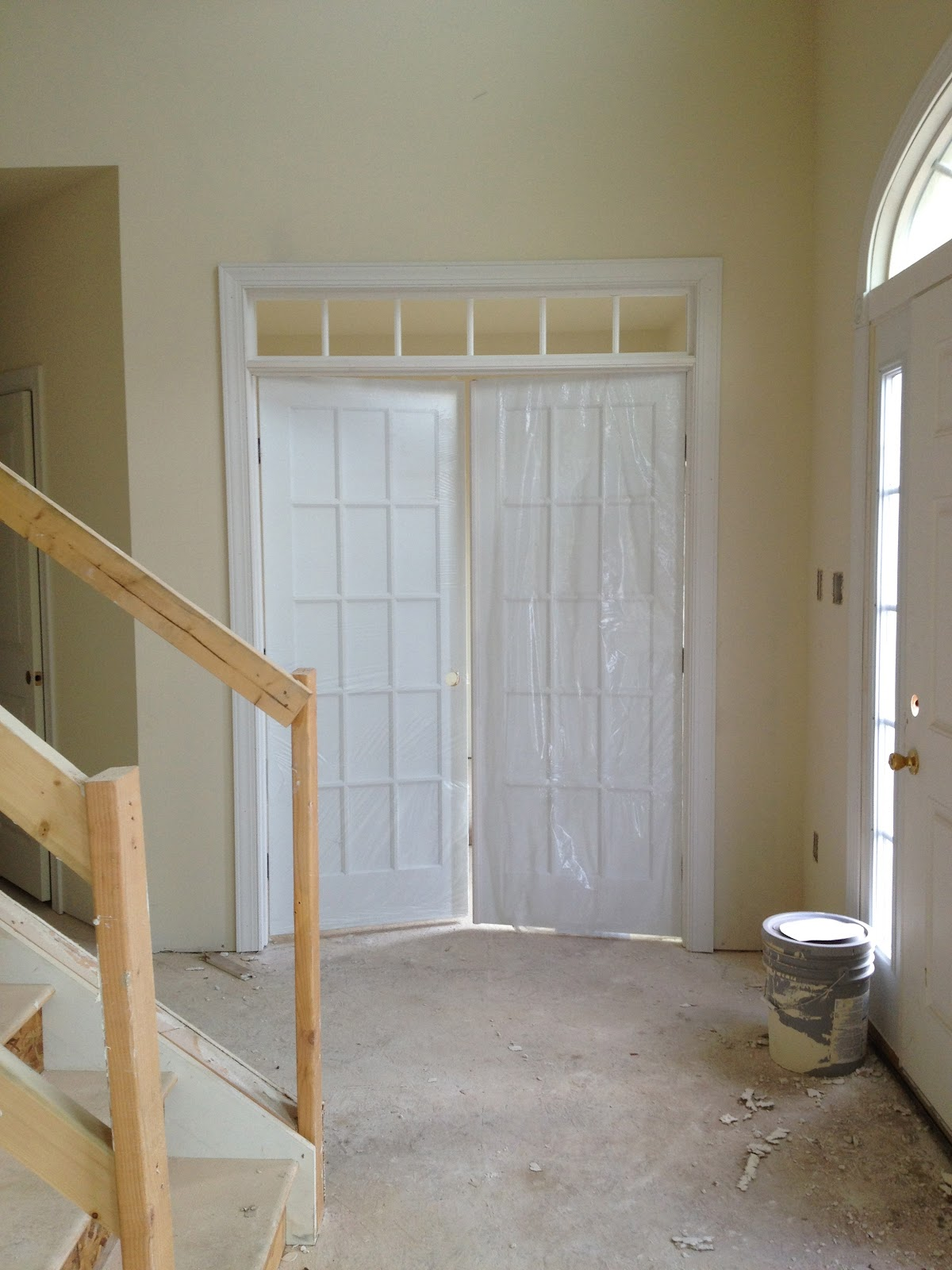 French doors and transom for my office