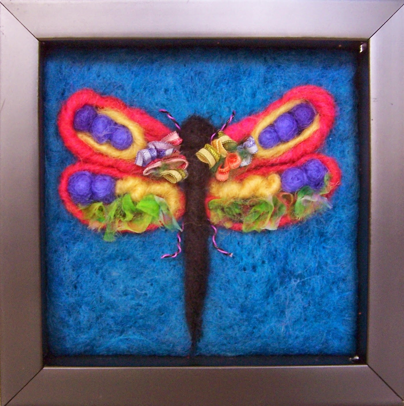 Needle Felt Dragonfly Art