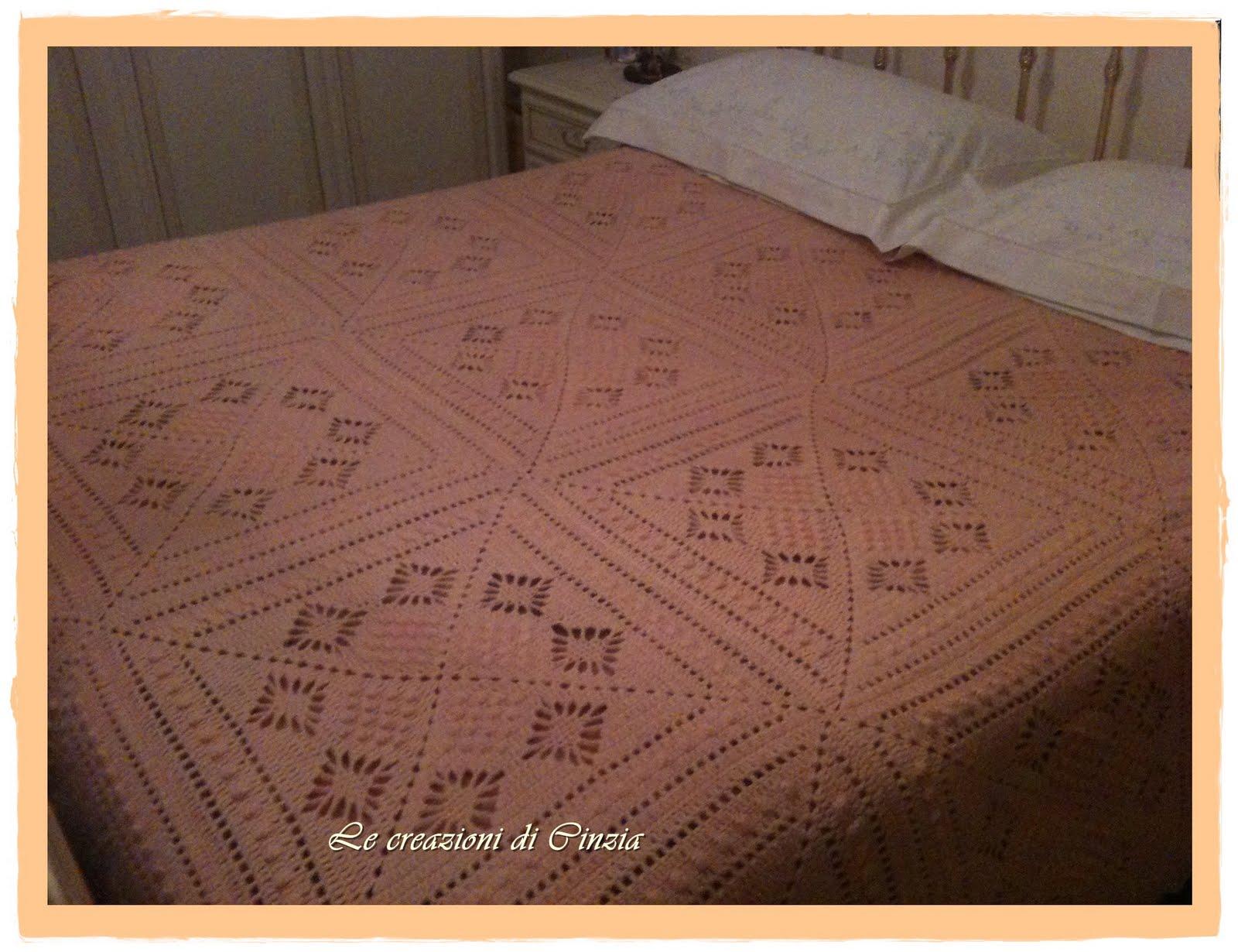 Le creazioni di cinzia coperta matrimoniale all 39 uncinetto - Coperte per letto matrimoniale ...