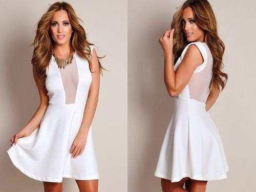 Melhores vestidos brancos usar ano novo 2015