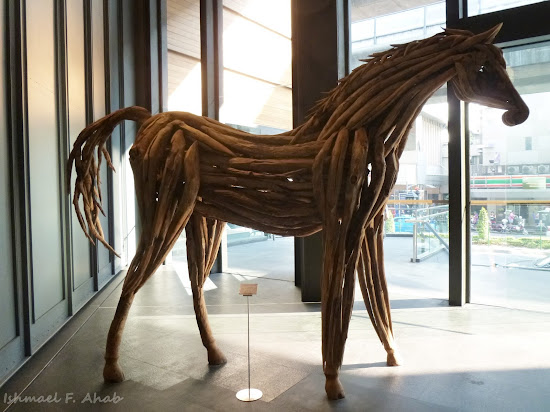 A wooden horse in Siam Center, Bangkok