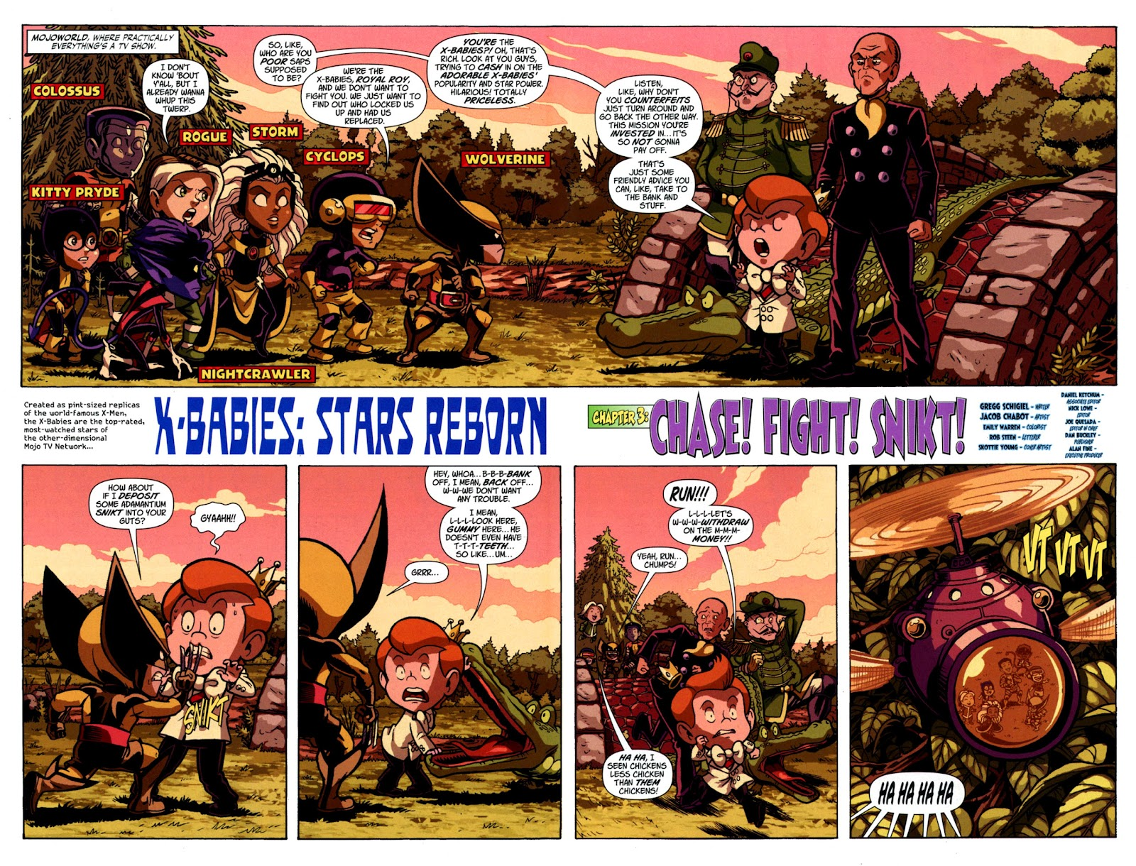 Read online X-Babies comic -  Issue #3 - 4