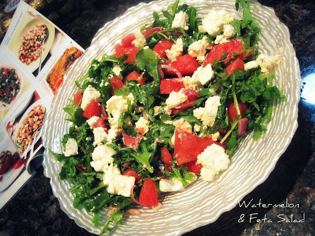 Watermelon and Feta Salad #recipe