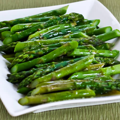 ... Asparagus with Lemon-Mustard Vinaigrette (Low-Carb, Paleo, Gluten-Free