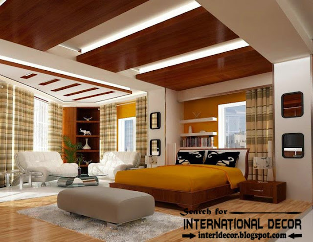 Contemporary pop false ceiling designs for bedroom 2015 Latest small bedroom designs