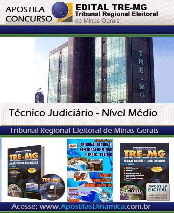 O Tribunal Regional Eleitoral de MG abre concurso para técnico judiciário - 2014