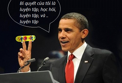 Obama chơi Finger Skate