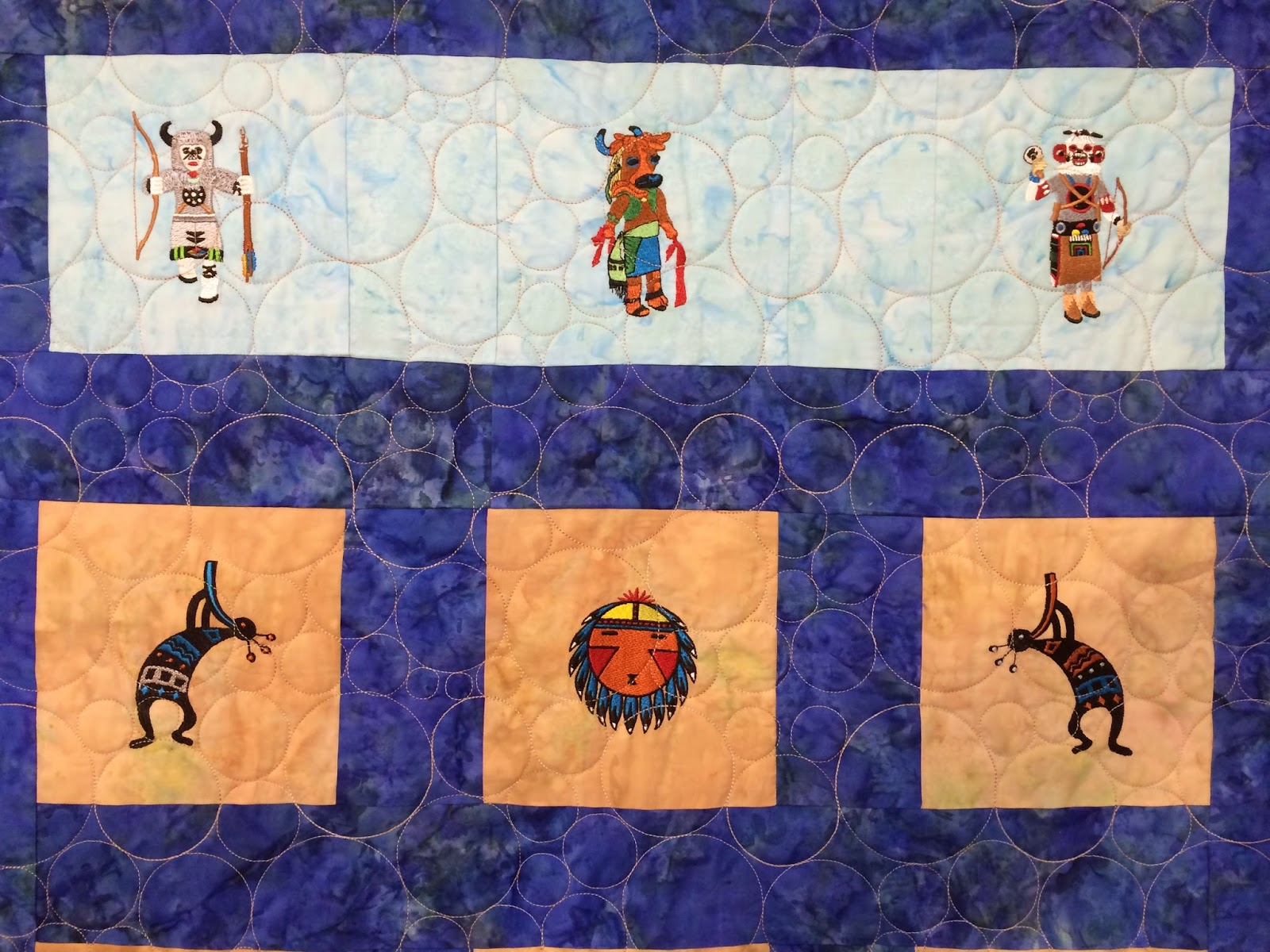 Pamela Marshall's Kachina and Hopi Quilt