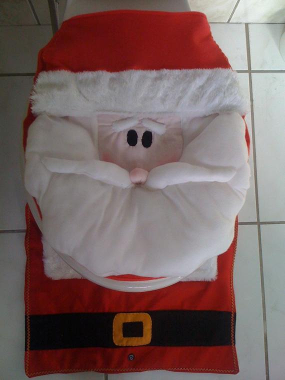 Decoração de Natal, até no banheiro? ~ Arte De Fazer  Decoração e Artesanato -> Decoracao Banheiro Natal