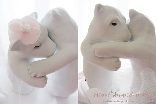 Bear cake topper, romantic cake toppers