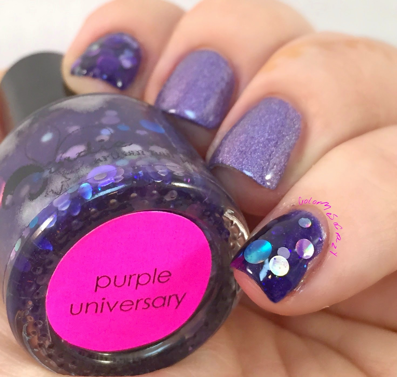 jindie nails, Purple University, Sippin' on Jindie Juice, alpha mani