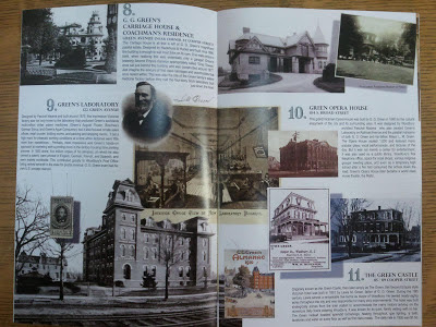 the Green Family history centerfold of the new Woodbury NJ historic walking tour booklet