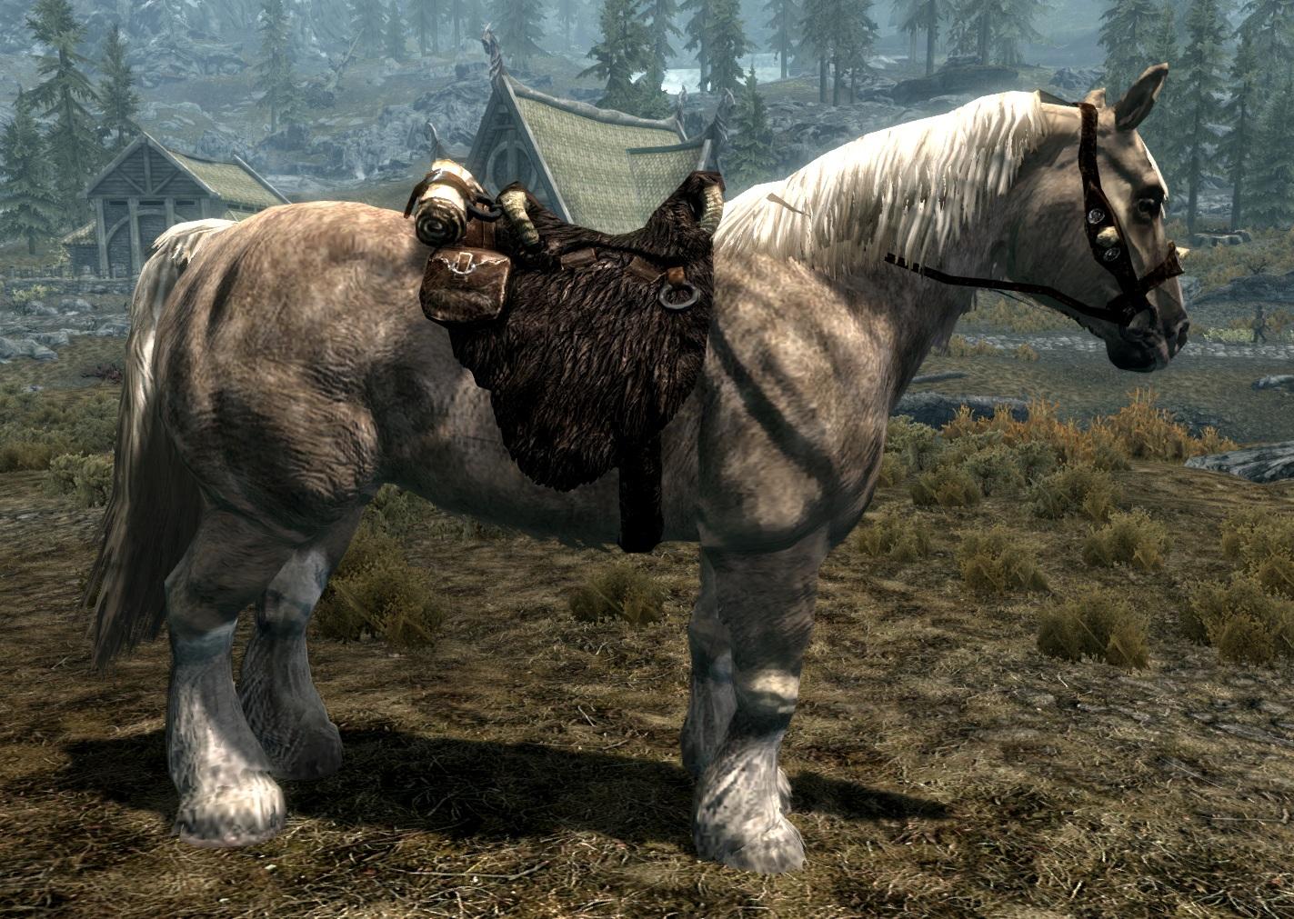 Как в скайриме сделать лошадь своей